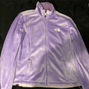 FLUFFY LAVENDER FLEECE FULL ZIP NORTHFACE SIZE L